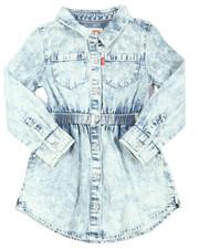 Girls - L/S Fit/Flare Dress (2T-4T)