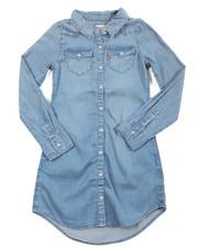 Girls - L/S Western Dress (7-16)
