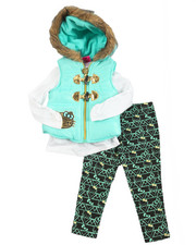 Hello Kitty - 3 Piece Vest Long Set (2T-4T)