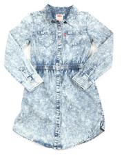 Girls - L/S Fit/Flare Dress (7-16)
