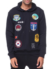 Hoodies - French Terry Pullover Patches Hoodie