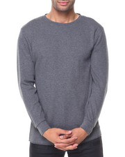 Buyers Picks - Solid L/S Crewneck Thermal Top