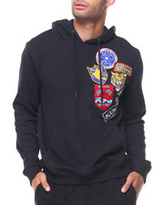 Hoodies - French Terry Pullover Chest Patch Hoodie