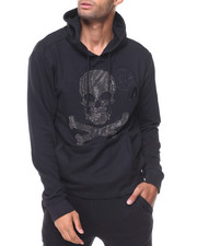 MADBLUE - Skull French Terry Pullover Hoodie