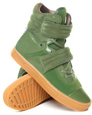 Men - Patent Gum Pigskin Cylinder High Top Sneaker