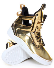 Footwear - 24K Gold Bar Metallic Prism High Top Sneaker
