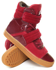 Men - Patent Gul Pigskin Cylinder High Top Sneaker