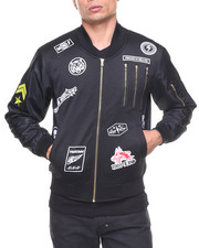 Men - Poly Body/Nylon Sleeves Multi Zipper Track Jacket
