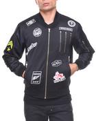 Poly Body/Nylon Sleeves Multi Zipper Track Jacket