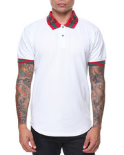 Men - Embrd Collar W/ Printed Collar Regal Polo