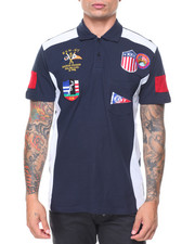 Men - S/S Multi-Patches Headsail Polo