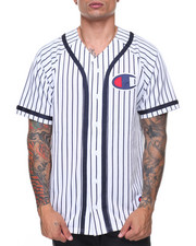 Men - Verticle Pinstripe Baseball Shirt