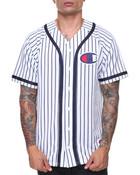 Verticle Pinstripe Baseball Shirt