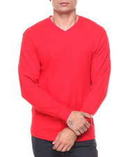 Men - Solid L/S Crewneck Thermal Top