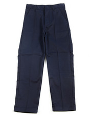 Bottoms - Boys Flat Front Navy Pants (8-14)