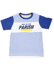 Tops - Parish City Blocks Stripe Color Block Tee (4-7)