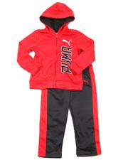 Puma - 2 Piece Tech Fleece Pullover Long Set (4-7)
