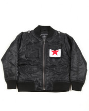 Light Jackets - Lightweight Twill Bomber Jacket (4-7)