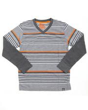 Arcade Styles - Striped L/S V-NECK (8-20)