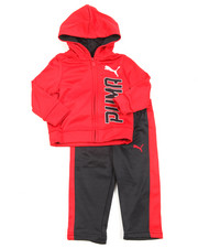 Puma - Tech Fleece Full Zip Hoodie Long Set (Infant)