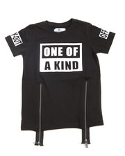 Akademiks - One Of A Kind Zip Trim Tee (4-7)