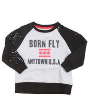 Sweatshirts & Sweaters - Crew Neck Raglan Loopback Sweatshirt (4-7)