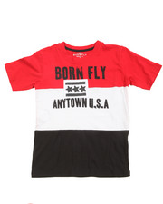 Sizes 8-20 - Big Kids - Pieced Color Block Tee (8-20)