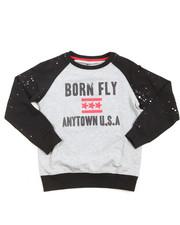 Sweatshirts & Sweaters - Crew Neck Raglan Loopback Sweater (8-20)