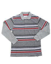 Tops - Striped L/S Polo (8-20)
