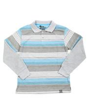 Boys - Striped L/S Polo (8-20)
