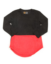 Arcade Styles - L/S Color Block Scalloped Tee (8-20)