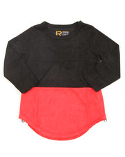 Arcade Styles - L/S Color Blocked Scalloped Tee (4-7)