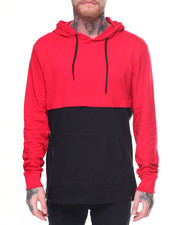 T-Shirts - L/S Colorblock Tee Anorak Hoodie