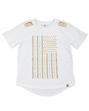 Akademiks - Gold Studs Elongated Tee (8-20)