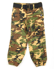 Bottoms - Belted Twill Cargo Jogger (4-7)