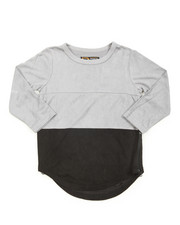 Boys - L/S Color Blocked Scalloped Tee (4-7)