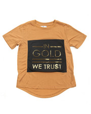 Akademiks - In Gold We Trust 3D Foil Print S/S Tee