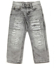 Akademiks - Akademiks Snow Wash Slim Fit Rip & Repair Denim Jean (4-7)