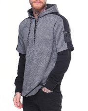 MC SQUARED - Poly Fleece Layered Hoodie