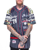 S/S Pin Stripe Baseball Tee