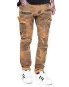 Zipper Overdye Cargo Twill Pants