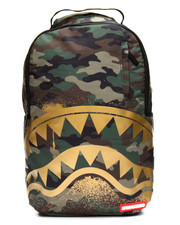 Sprayground - Gold Stencil Shark Camo Backpack