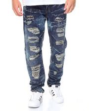 Men - Distressed Jean w/ Gold Stud Detail
