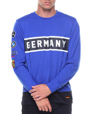 Shirts - L/S Germany Patches Jersey Tee
