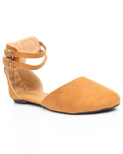 Women - Ankle Strap/ Pointed Toe Flat