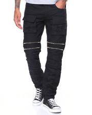 Buyers Picks - Distressed Cargo Pocket Jean w/ Studs