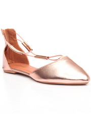 Women - Back Zip/Pointed Toe Flat
