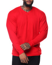 Shirts - Solid L/S V-neck Thermal Top