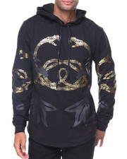 Men - Gold Snake Hoodie French Terry Top