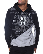 Men - L/S Printed Hoody Split Fabric
